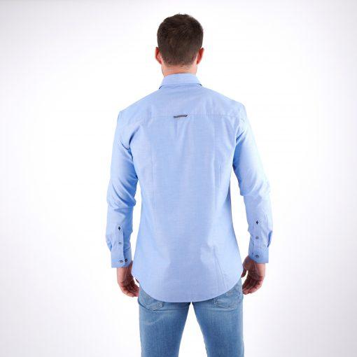 Herren-Hemd-blau-slim-fit