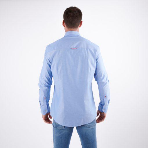 Herren-Hemd-blau-regular fit
