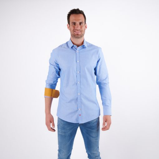 Herren-Hemd-blau-reg