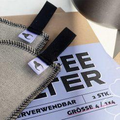 1x4 Kaffeefilter aus Leinen im Filter